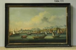 China Trade painting depicting Port of Amoy