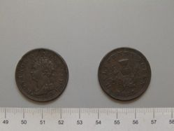 Halfpenny of George IV, King of Great Britain from Halifax