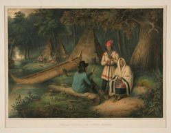 IIndian Wigwam in Lower Canada