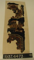 Fragment of dovetailed tapestry