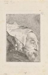 Profile of an Old Man, from the Raccolta di Teste (Collection of Heads)