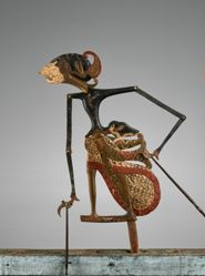 Puppet (Wayang Klitik) possibly of Patih Logender