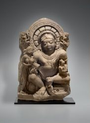 Kubera, God of Wealth, and His Consort Riddhi