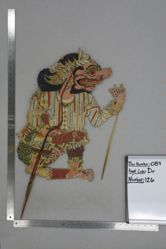 Shadow Puppet (Wayang Kulit) of Buto Putran, from the set Kyai Drajat