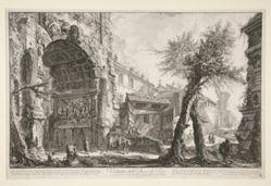 Veduta dell' Arco di Tito (View of the Arch of Titus), from Vedute di Roma
