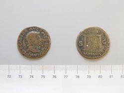 Bronze as of Nero, from Lugdunum