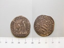 1 Testone of Pope Pius V from Rome