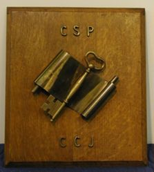 Scroll and Key Plaque