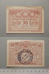 30 Heller from Abekberg, redeemable Dec. 31, 1920, Notgeld