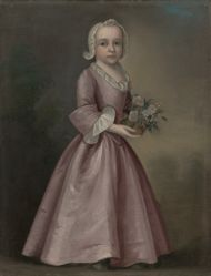 Little Girl Holding Flowers (attributed to Joseph Badger)