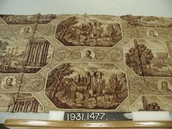 """Length of printed cotton, """"Classical Scenes"""""""