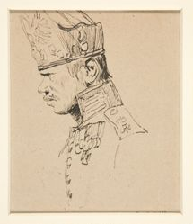 Head of a Grenadier in Profile