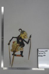 Shadow Puppet (Wayang Kulit) of Gareng, from the set Kyai Drajat