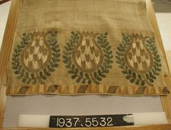 Length of embroidered plain cloth