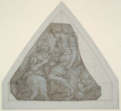 Study for Cosimo I, Reviving the City of Fivizzano (for a ceiling in the Palazzo Vecchio, Florence)