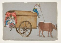 """Prarie Schooner"" Drawn by two oxen"