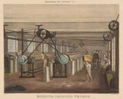 Progress of Cotton: #5 - Bobbin & drawing frames