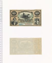 10 Pesos of La Provincia de Buenos Ayres from Argentina