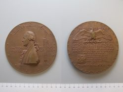 Cast bronze medal of George Washington commemorating the centennial of his inauguration