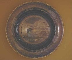 Soup plate with view of the City of Albany, New York