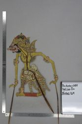Shadow Puppet (Wayang Kulit) of Simikarno, from the set Kyai Drajat
