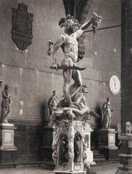Cellini's Perseus, in the Loggia dei Lanzi, Florence