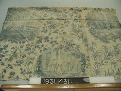 """Length of printed linen, """"School Children"""""""