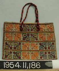Bag of hand woven linen