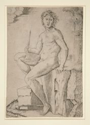 Seated Man Holding a Flute
