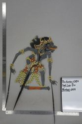 Shadow Puppet (Wayang Kulit) of Druwendar, from the set Kyai Drajat