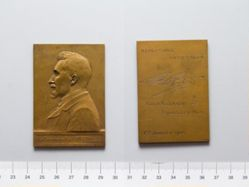 Bronze Plaquette from Belgium of Au Camarade Paul Fisch