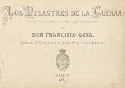 Title Plate, from Los desastres de la guerra (The Disasters of War)