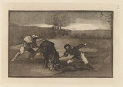 Otro modo de cazar á pie (Another Way of Hunting on Foot), Plate 2 from La tauromaquia