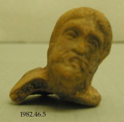 Head of male figurine