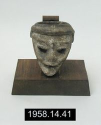 Vessel, resembling miniature mask