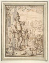 Peasant Man and Child at Market