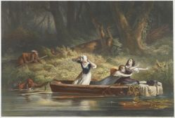 Capture of the Daughters of Daniel Boone and Richard Callaway by the Indians