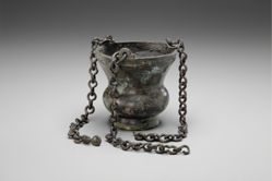 Hanging censer with three complete chains