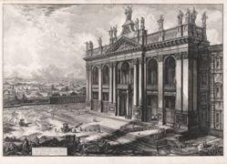 Veduta della Facciata della Basilica di S. Giovanni Laterano . . . (View of the Façade of the Basilica of San Giovanni Laterano . . . ), from Vedute di Roma (Views of Rome)