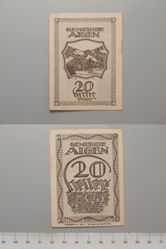 20 Heller from Aigen, redeemable 31 Oct. 1920, Notgeld