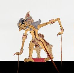 Shadow Puppet (Wayang Kulit) of Bratasena, from the consecrated set Kyai Nugroho
