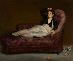 Reclining Young Woman in Spanish Costume