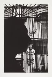 Untitled (Silhouette before Grill and Building Facade) 1981, from the Chiaroscuro portfolio, 1982.