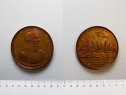 Copper Medal commemorating Commodore Oliver Perry (1785-1819) and the battle of Lake Erie, 1813