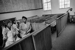 Donna Ferrato, Misindi's Day in Court, Soweto, South Africa, from the series Holy