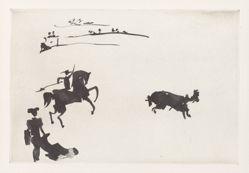Citando al toro con el rejón (Inciting the Bull with the Lance), from the series La tauromaquia