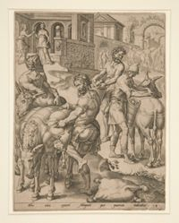 The Servants of Abigail Loading the Asses with Food for David