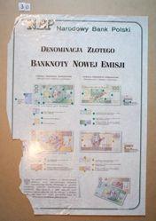 Denominacja Złotego, Banknoty Nowej Emisji (New Money, New Banknotes)