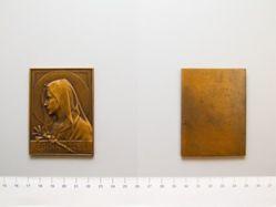 Bronze Plaquette from France of Regina Coeli