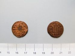 Copper Pougeoisie of Geoffrey II or William II from Corinth